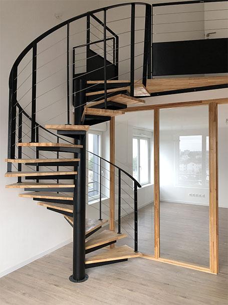 ouvrage escalier métallique nantes