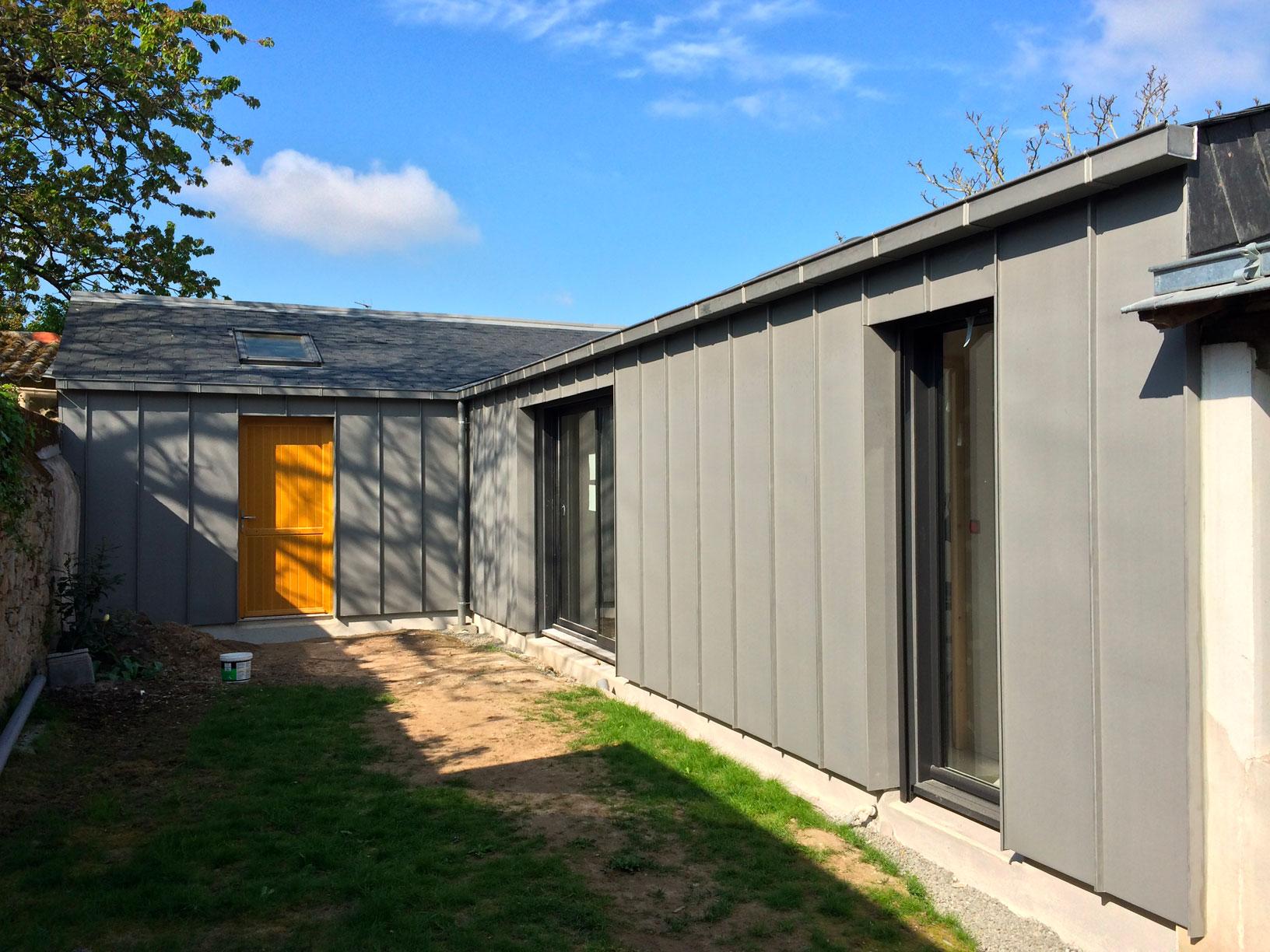 extension maison bardage
