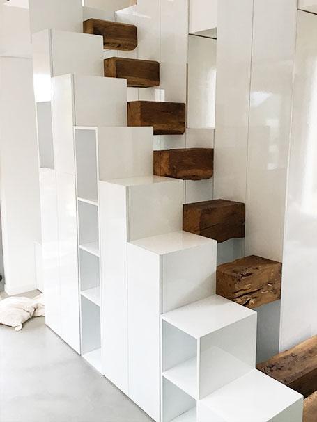 réalisation escalier métal bois acrebat