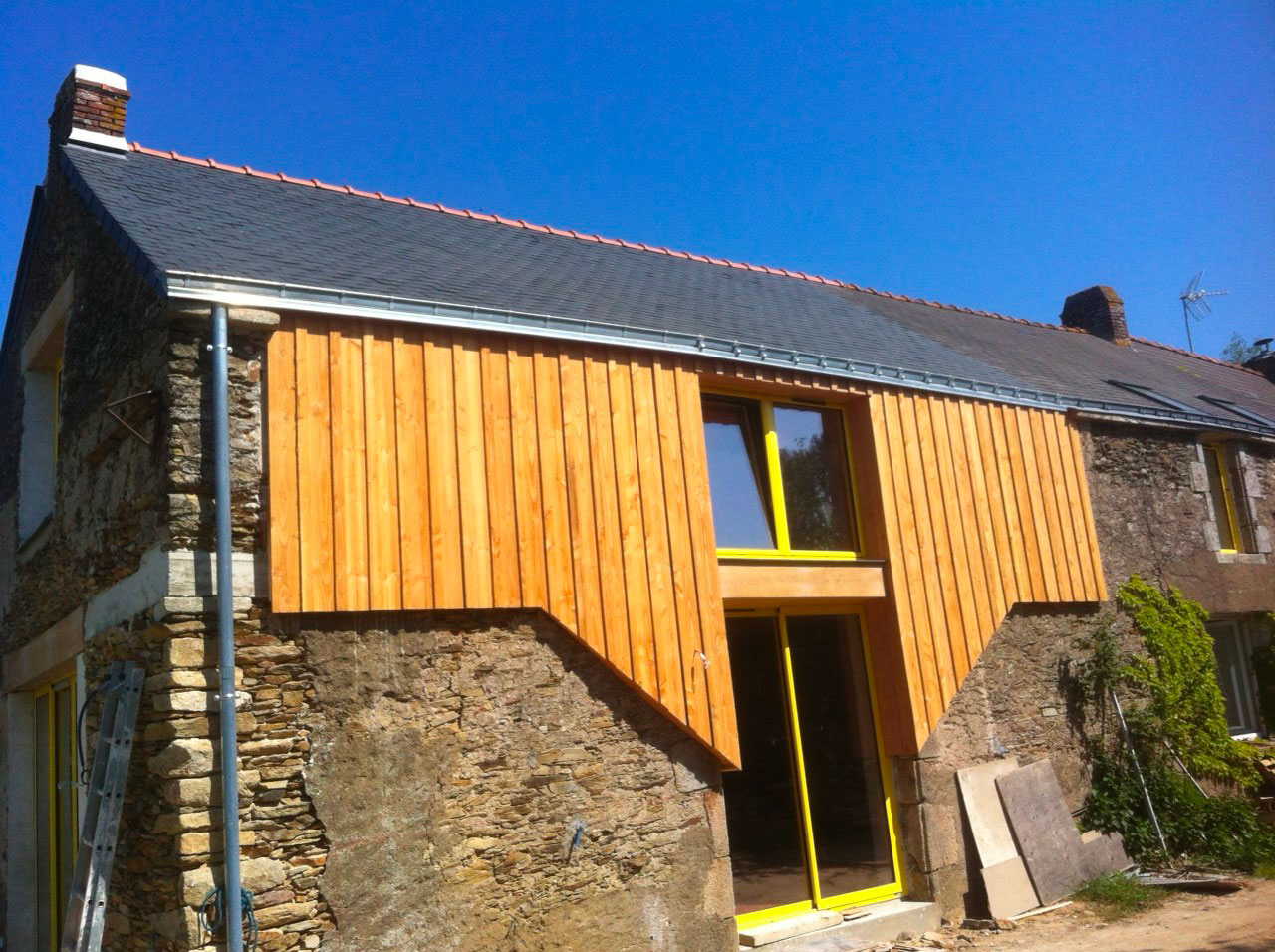 renovation facade bois 44